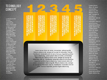 Touchpad Diagram, Slide 20, 01710, Stage Diagrams — PoweredTemplate.com
