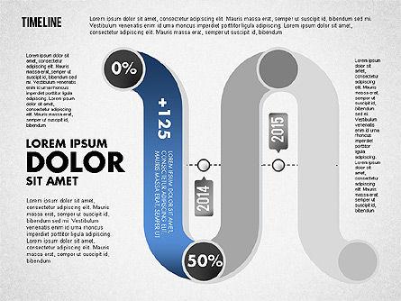 Serpentine Timeline, Slide 6, 01711, Timelines & Calendars — PoweredTemplate.com