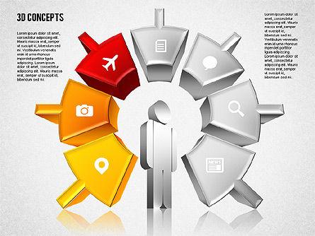Human Motivation Diagram, Slide 4, 01715, Business Models — PoweredTemplate.com