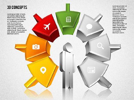 Human Motivation Diagram, Slide 5, 01715, Business Models — PoweredTemplate.com