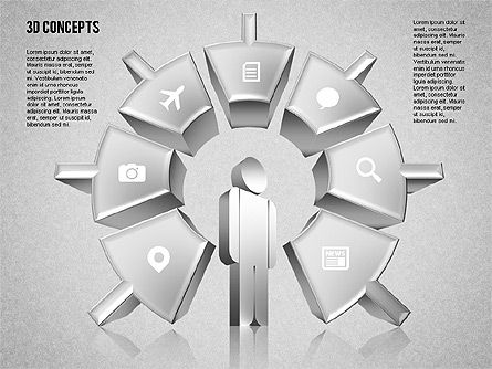 Human Motivation Diagram, Slide 9, 01715, Business Models — PoweredTemplate.com