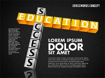 Crossword, Slide 16, 01718, Business Models — PoweredTemplate.com