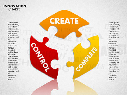 Innovation Puzzle, Slide 8, 01719, Puzzle Diagrams — PoweredTemplate.com