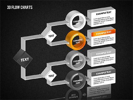 3D Flow Charts with Circles, Slide 13, 01720, Flow Charts — PoweredTemplate.com