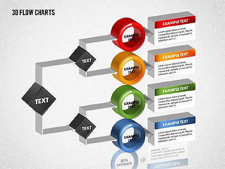 3D Flow Charts with Circles, Slide 5, 01720, Flow Charts — PoweredTemplate.com