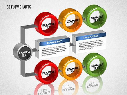3D Flow Charts with Circles, Slide 7, 01720, Flow Charts — PoweredTemplate.com