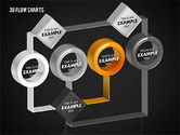 3D Flow Charts with Circles#11