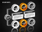 3D Flow Charts with Circles#15