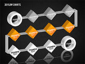 3D Flow Charts with Circles#16