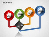 3D Flow Charts with Circles#2