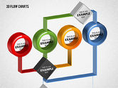 3D Flow Charts with Circles#4