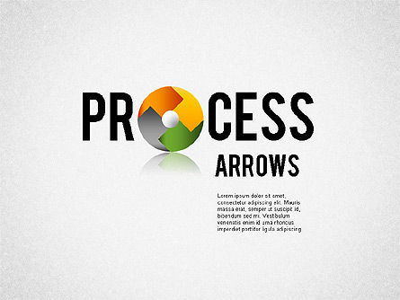 Banner Ribbon Style Process Arrows, 01722, Process Diagrams — PoweredTemplate.com