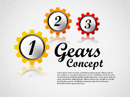 Business Models: Gears Concept Diagram #01725