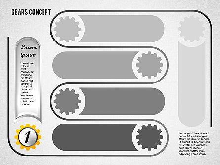Gears Concept Diagram, Slide 2, 01725, Business Models — PoweredTemplate.com