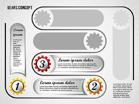 Gears Concept Diagram, Slide 4, 01725, Business Models — PoweredTemplate.com