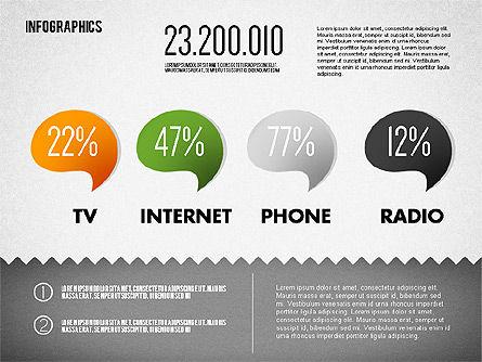 Media Distribution Infographics, Slide 2, 01731, Business Models — PoweredTemplate.com