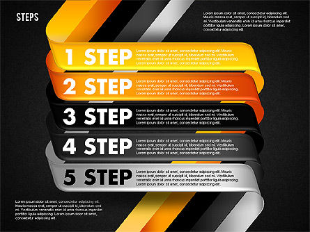 Five Step Options, Slide 15, 01734, Business Models — PoweredTemplate.com