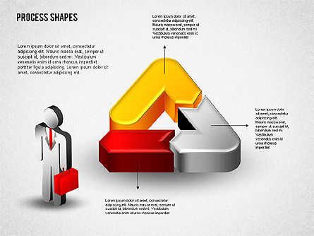 Process Diagrams: 3D Process with Stickman #01735
