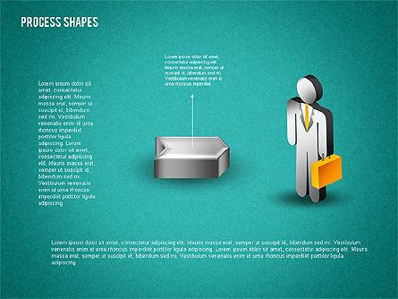 3D Process with Stickman, Slide 10, 01735, Process Diagrams — PoweredTemplate.com