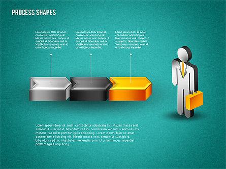 3D Process with Stickman, Slide 12, 01735, Process Diagrams — PoweredTemplate.com