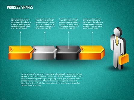 3D Process with Stickman, Slide 13, 01735, Process Diagrams — PoweredTemplate.com