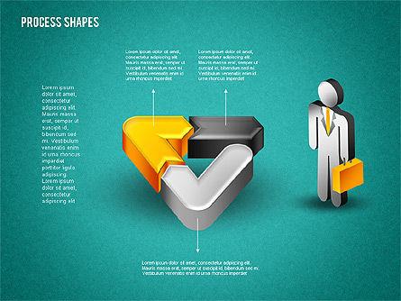 3D Process with Stickman, Slide 14, 01735, Process Diagrams — PoweredTemplate.com