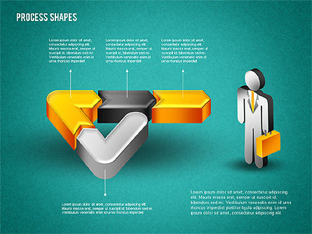 3D Process with Stickman, Slide 15, 01735, Process Diagrams — PoweredTemplate.com