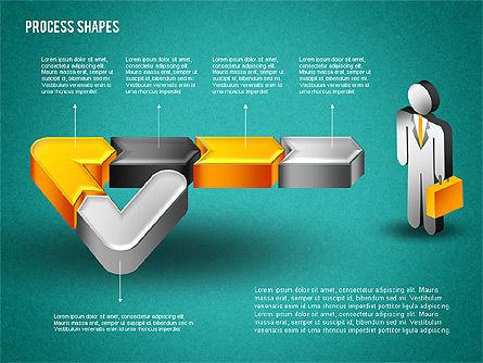 3D Process with Stickman, Slide 16, 01735, Process Diagrams — PoweredTemplate.com