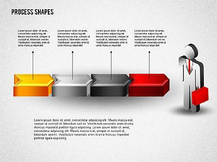 3D Process with Stickman, Slide 5, 01735, Process Diagrams — PoweredTemplate.com