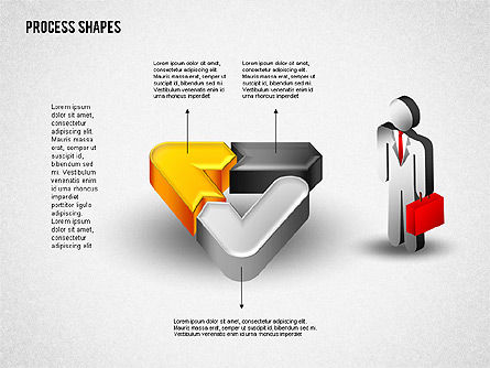 3D Process with Stickman, Slide 6, 01735, Process Diagrams — PoweredTemplate.com