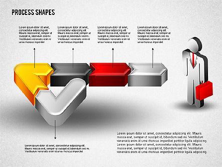 3D Process with Stickman, Slide 8, 01735, Process Diagrams — PoweredTemplate.com