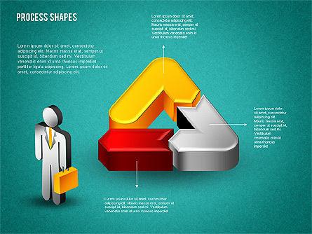 3D Process with Stickman, Slide 9, 01735, Process Diagrams — PoweredTemplate.com