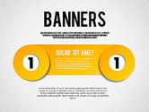 Business Models: Banners with Numbers #01737