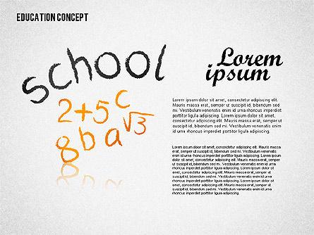 Education Concept Shapes Slide 2