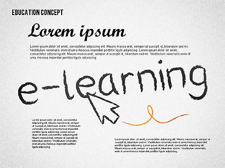 Education Concept Shapes Slide 3