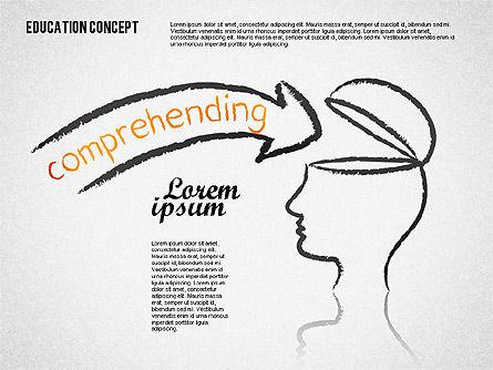 Education Concept Shapes Slide 4