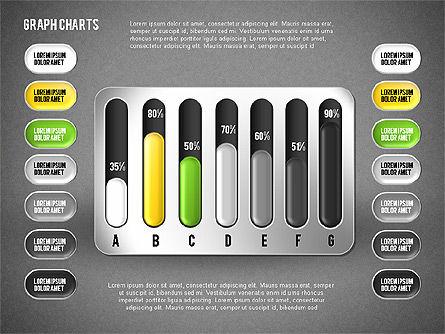Colored Graph Charts, Slide 15, 01742, Graph Charts — PoweredTemplate.com