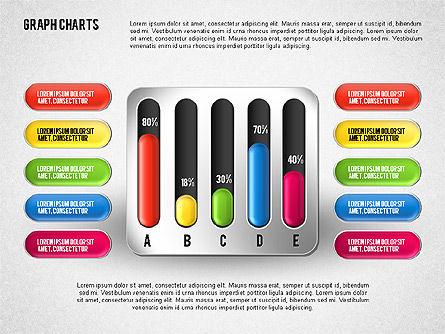 Colored Graph Charts, Slide 5, 01742, Graph Charts — PoweredTemplate.com