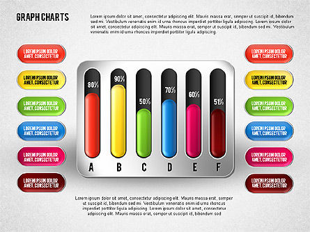 Colored Graph Charts, Slide 6, 01742, Graph Charts — PoweredTemplate.com
