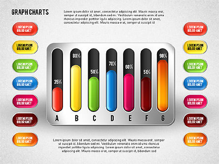 Colored Graph Charts, Slide 7, 01742, Graph Charts — PoweredTemplate.com