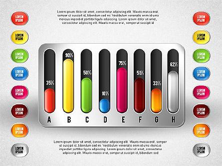 Colored Graph Charts, Slide 8, 01742, Graph Charts — PoweredTemplate.com