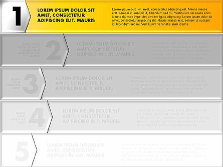 Business Models: Faixa de opções número de estilo origami colorido #01743