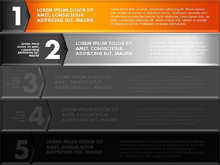 Colorful Origami Style Number Options Banner, Slide 10, 01743, Business Models — PoweredTemplate.com