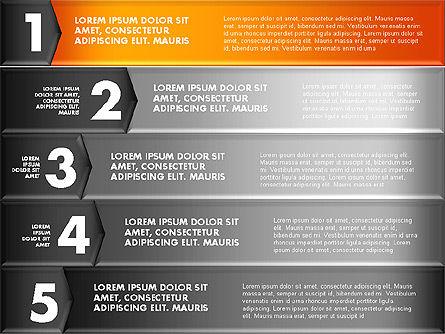 Colorful Origami Style Number Options Banner, Slide 13, 01743, Business Models — PoweredTemplate.com