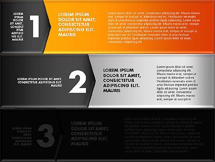 Colorful Origami Style Number Options Banner, Slide 15, 01743, Business Models — PoweredTemplate.com