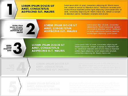 Colorful Origami Style Number Options Banner, Slide 3, 01743, Business Models — PoweredTemplate.com