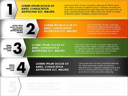Colorful Origami Style Number Options Banner, Slide 4, 01743, Business Models — PoweredTemplate.com