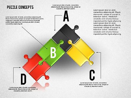 puzzle pieces connections diagram, slide 3, 01744, puzzle diagrams —  poweredtemplate com