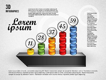 Colorful 3D Charts, Slide 4, 01746, Business Models — PoweredTemplate.com