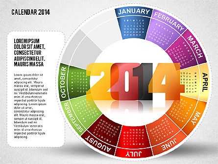 2014 PowerPoint Calendar, Slide 10, 01747, Timelines & Calendars — PoweredTemplate.com